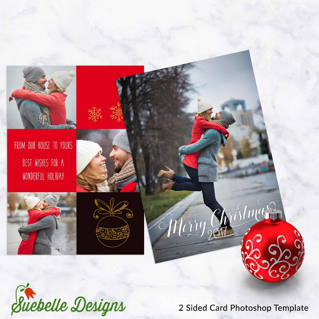 Holiday Greeting Card Photoshop Template