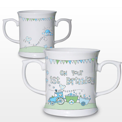 Whimsical Train 1st Birthday Loving Mug Gift
