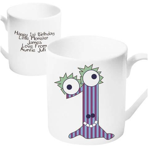 Personalised Monster Age 1 Mug Present