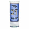 Happy 21st Birthday Blue Shot Glass Present