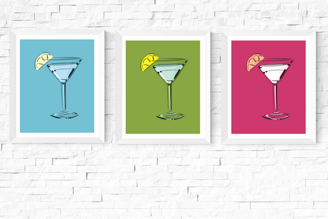 Pop Art Cocktail Printables Set of 3