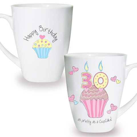 Cupcake Mug 30th Birthday Gift