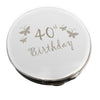 40th Birthday Butterfly Round Compact