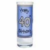 Happy 40th Birthday Blue Shot Glass