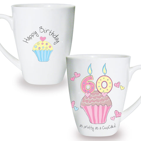 Cupcake Mug 60th Birthday Gift