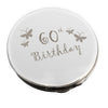 60th Birthday Butterfly Round Compact Mirror