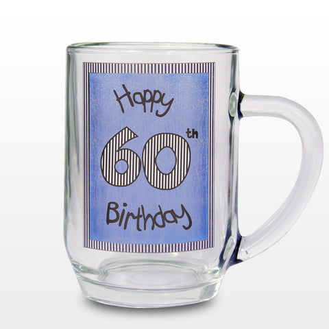 Happy 60th Birthday Blue Tankard