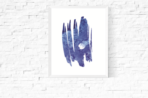 Blue Abstract Art Printable