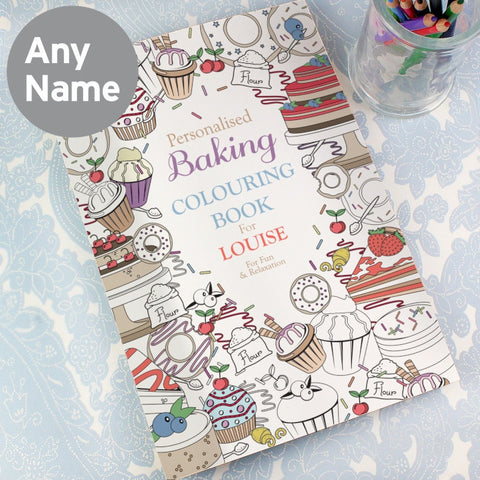 Personalised Baking Adult Colouring Book