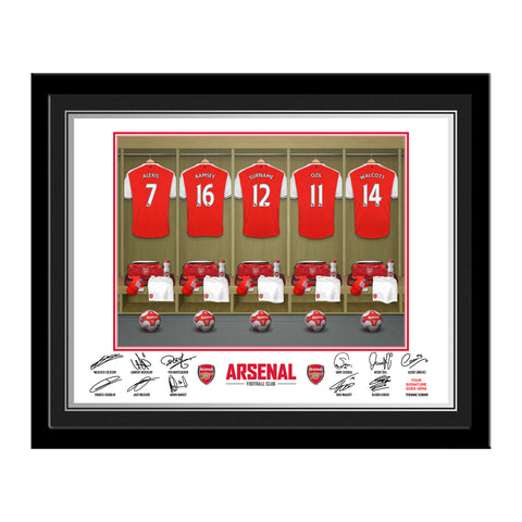 Personalised Arsenal Dressing Room Frame Gift