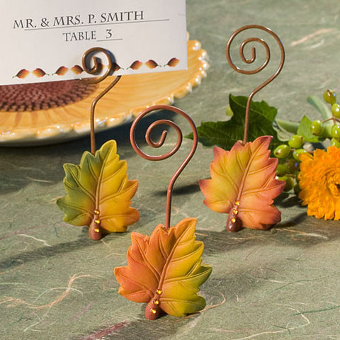 Autumn Leaf Place Card Holders 6PK