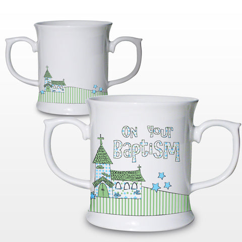 Baptism Blue Church Ceramic Loving Mug