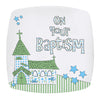 Baptism Church Plate in Blue