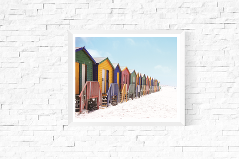 Beach Huts Photograph Printable