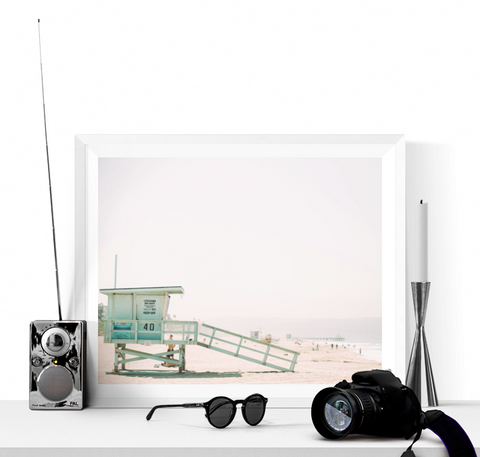 Beach Lifeguard Hut Photograph Printable
