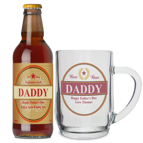 Personalised Luxury Beer and Tankard Set Gift