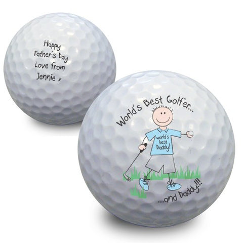Personalised Worlds Best Golfer Golf Ball Gift
