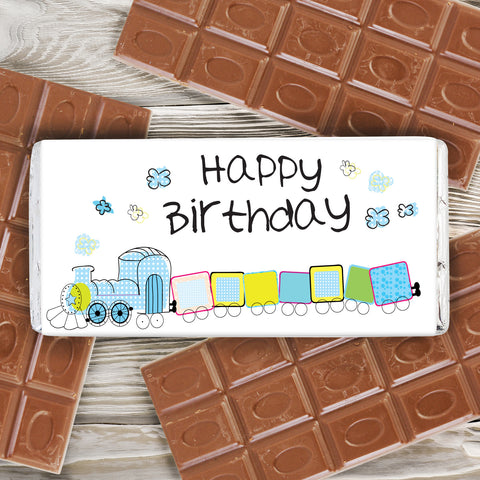 Patchwork Train Chocolate Bar Gift