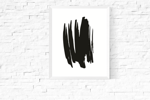 Black Abstract Art Printable