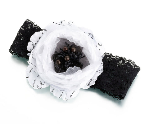 Black and White Bridal Garter