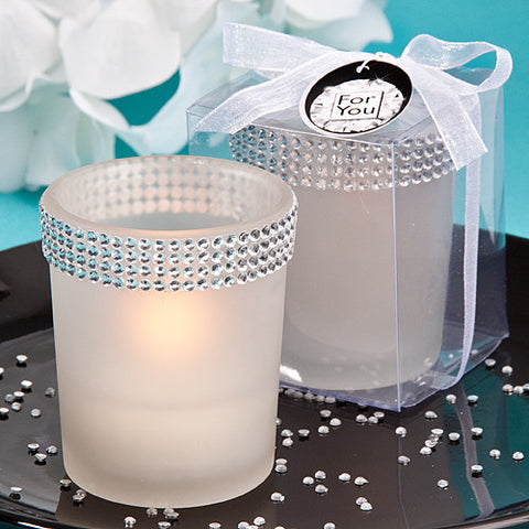 Bling White Candle Favour 6PK