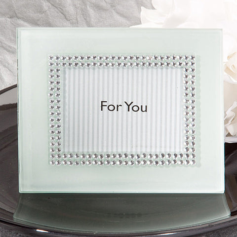 Bling White Photo Frame Place Card Holders 6PK