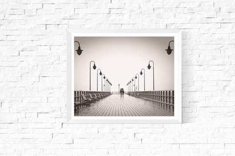 Boardwalk Photograph Printable Black and White