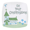 Confirmation Church Plate in Blue