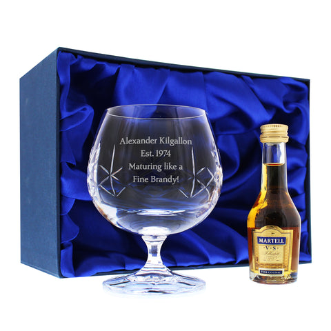 Personalised Crystal and Brandy Gift Set