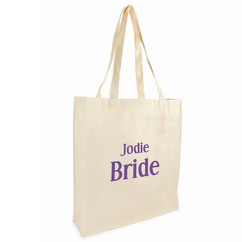 Personalised Bride Cotton Tote Bag Gift