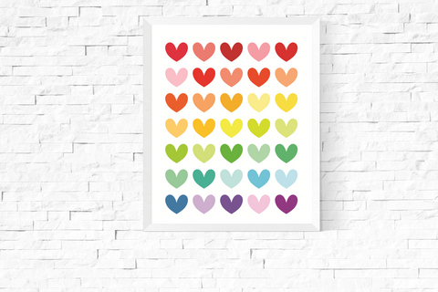 Bright Hearts Art Printable