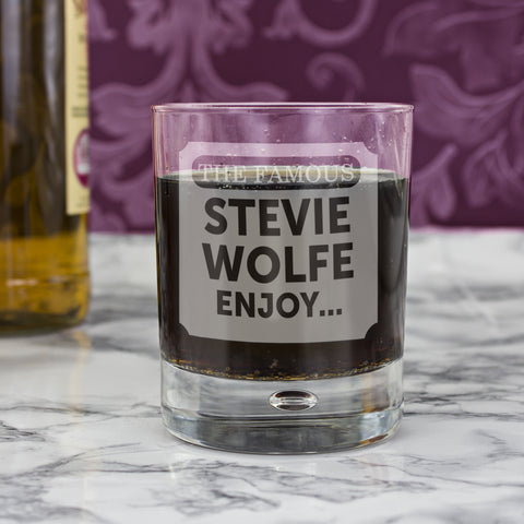 Personalised The Famous Bubble Glass Gift