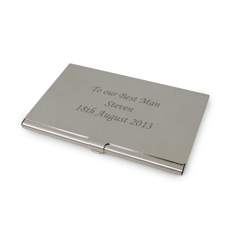 Personalised Business Card Holder Gift