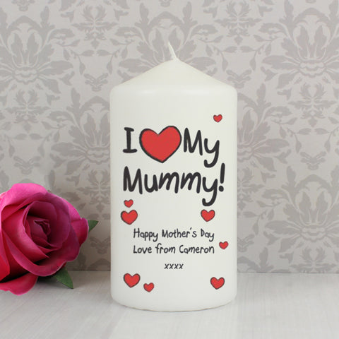 Personalised I Heart My Candle Gift