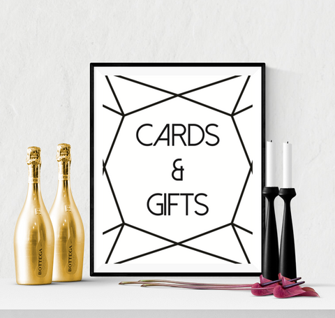 Cards and Gifts Wedding Sign Diamond