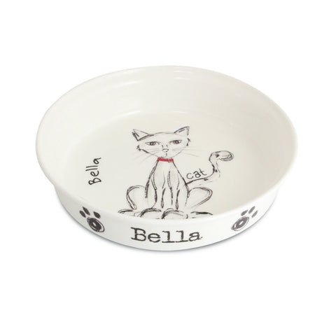 Personalised Scribble Cat Bowl Present