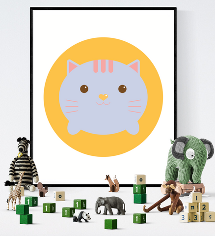 Cute Cat Art Printable Kawaii Style