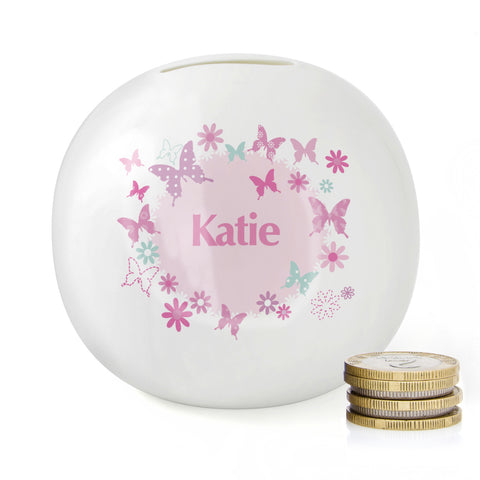 Personalised Butterfly Money Box Present