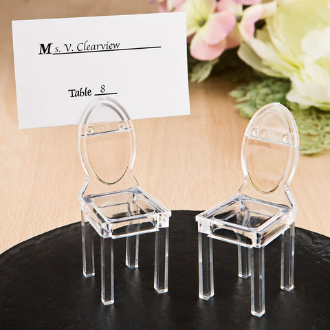 Formal Chair Place Card Holders Clear 6PK