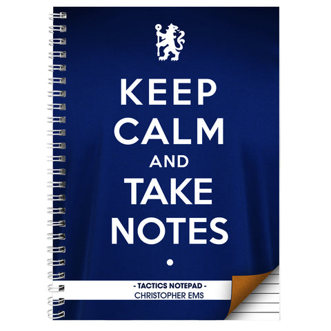 Personalised Chelsea  Keep Calm A5 Notebook Gift