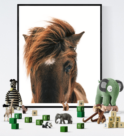 Chestnut Horse Photograph Art Printable