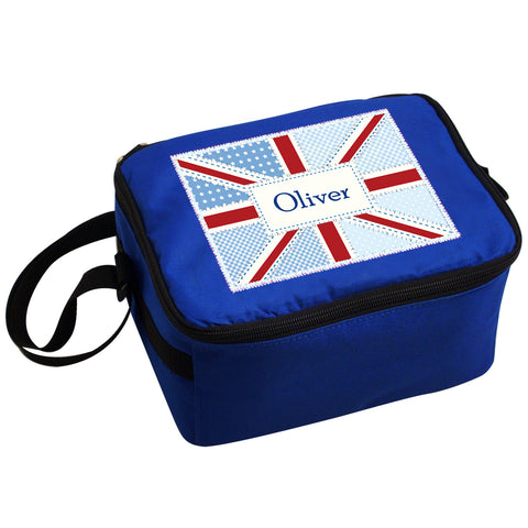 Personalised Patchwork Union Jack Lunch Bag Gift