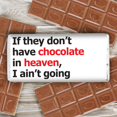 Personalised Chocolate Heaven Slogan Chocolate Bar