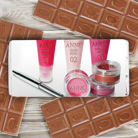 Personalised Lip Gloss Chocolate Bar Gift