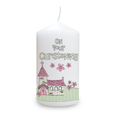 Christening Candles for Girls