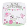 Whimsical Pram Christening Plate