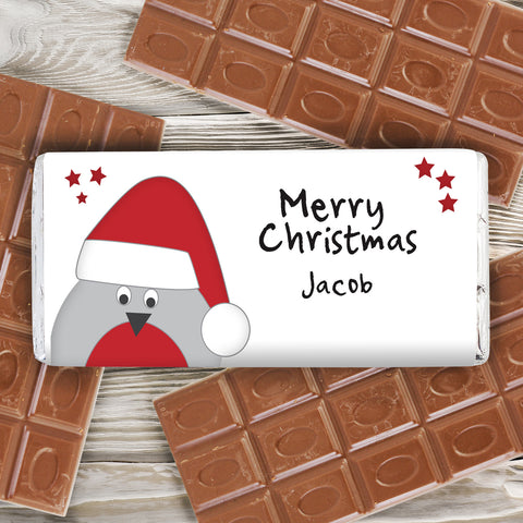 Christmas Chocolate Bars Robin