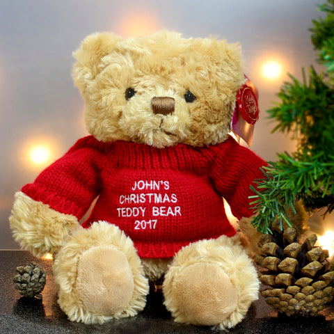 Personalised Christmas Message Bear Gift