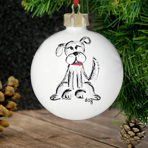 Personalised Dog Christmas Bauble Gift