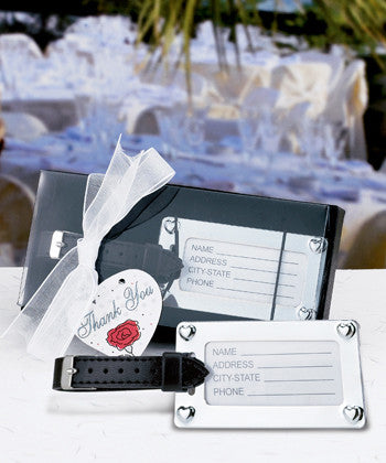 Chrome Luggage Tag Favours